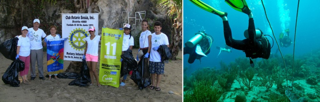 sosua beach clean up by ADSS