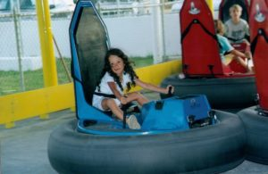 child on kart