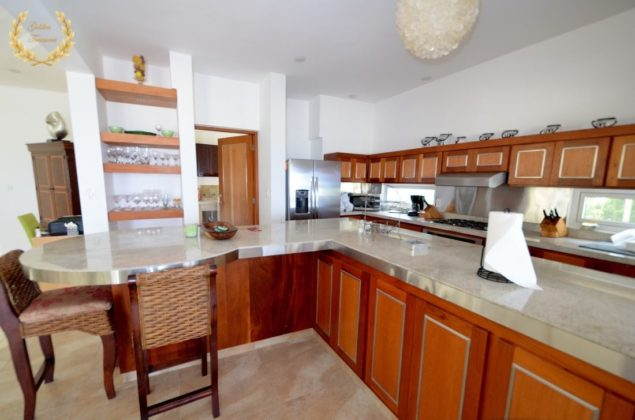 High end kitchen in the villa