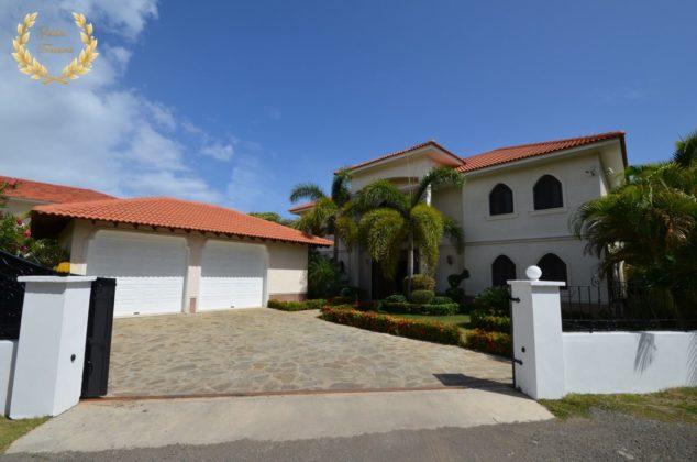 elegant villa facade