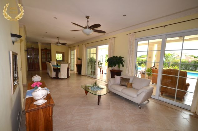 The villa interior is refined European style