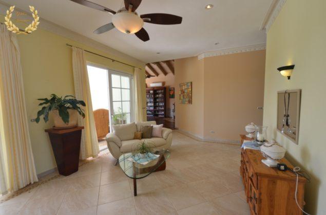 The villa living room