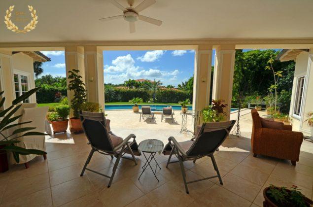 Elegantly designed veranda