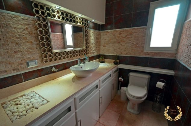Master bathroom of the villa