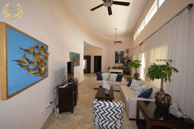 living room of the villa