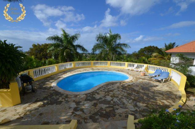 The pool deck with ocean vistas