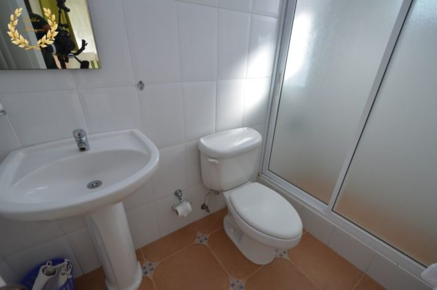 A bathroom in white