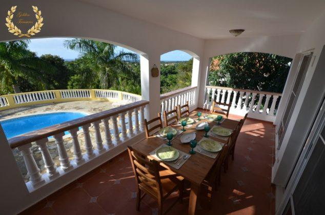 ocean view balcony of the villa in Sosua