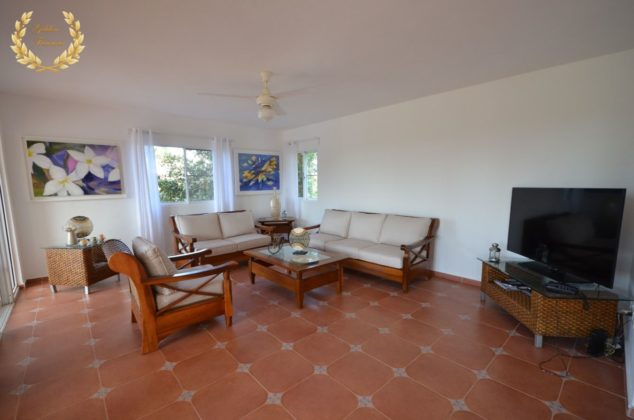 The villa spacious living room