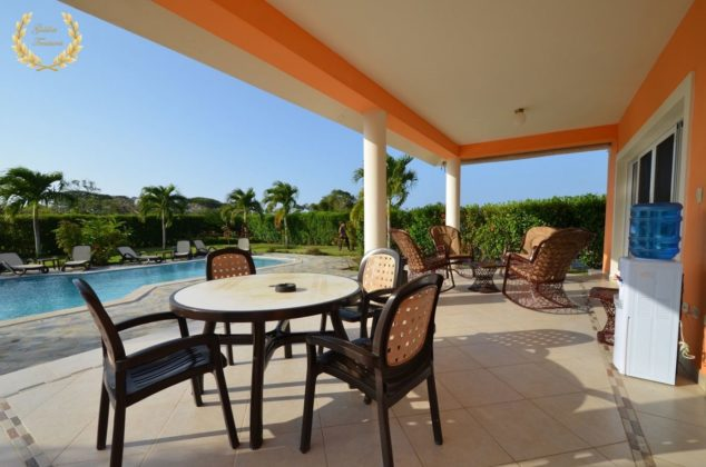 veranda by the pool
