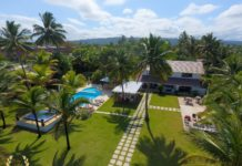 Beach villa rental with 14 bedrooms