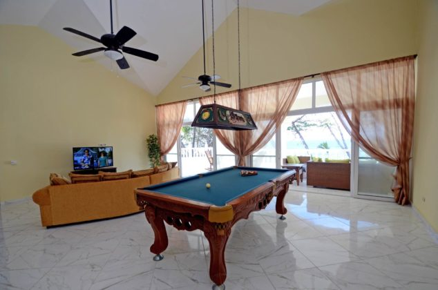 pool table in media room