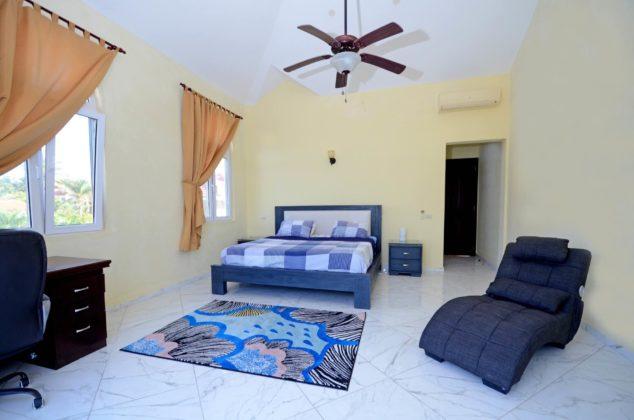 master suite blue bed