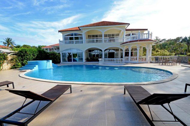 This oceanfront villa rental in Sosua has 12 bedrooms