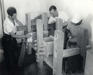 Building the first cheese press