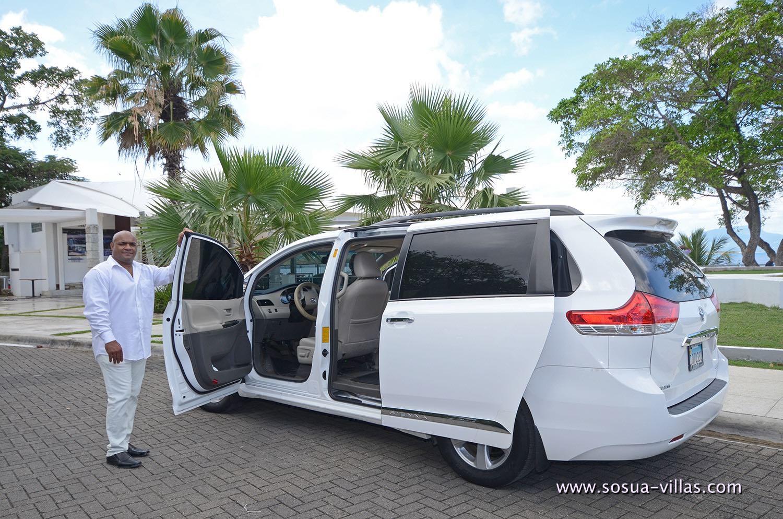 Private driver in Sosua with mini van