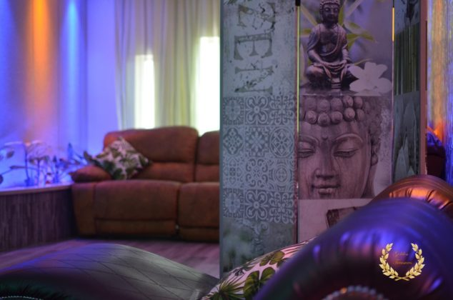 buddha in lounge