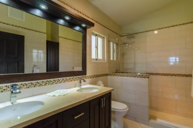 double vanities in the master suite bathroom