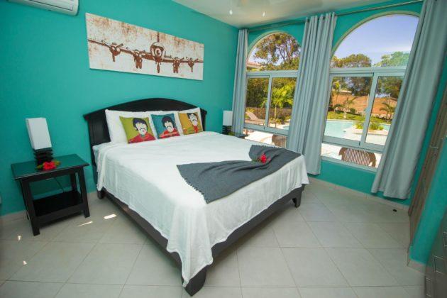bedroom 3 in green