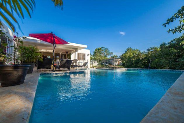 The large pool feels like a spa