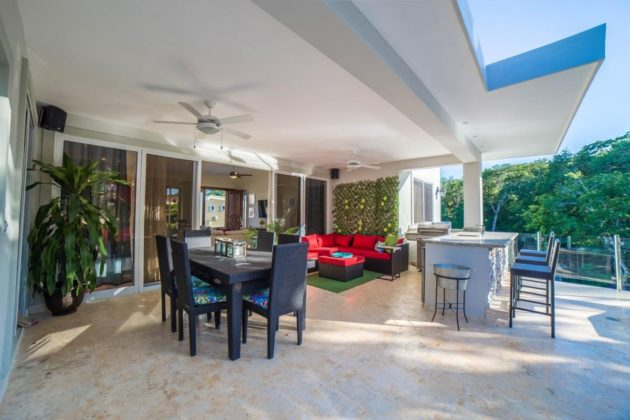 The villa veranda
