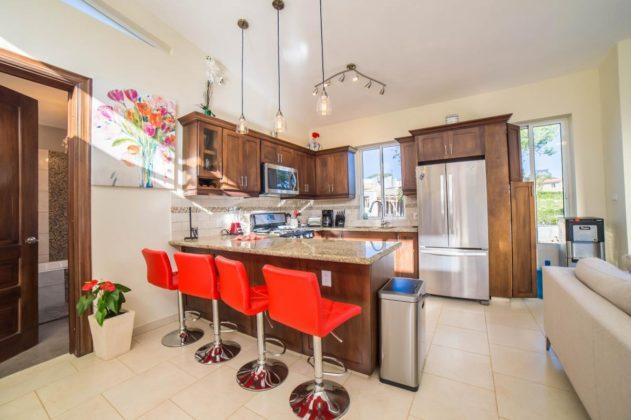 the villa kitchen is modernist
