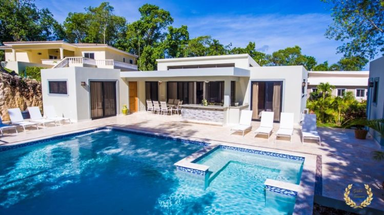 This modern villa rental is one of the top party houses in Sosua