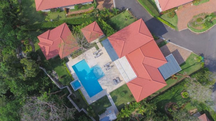 drone photo of the villa in Sosua`s finest community