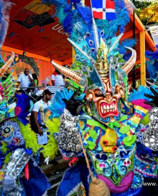 Cojuelos dance at the 2019 Puerto Plata Carnival