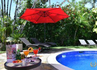 Beach villa rental swimming pool