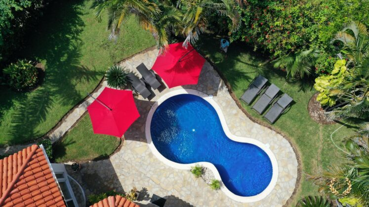 Drone view of the pool